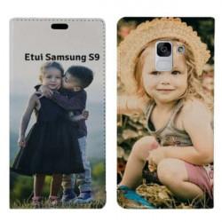 Etui à rabat personnalisé RECTO VERSO  Samsung Galaxy S9
