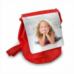 Sac à dos enfant personnalisé en toile rouge