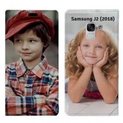 Etui à rabat personnalisé RECTO VERSO Samsung Galaxy J2 (2018)