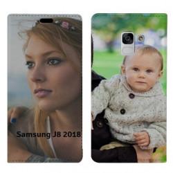 Etui à rabat personnalisé RECTO VERSO Samsung Galaxy J8 (2018)
