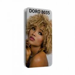 Etui rabattable personnalisable pour Doro 8035