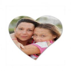 Puzzle a personnaliser en forme de coeur de 100 pieces