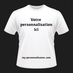 T-Shirt HOMME taille S à personnaliser